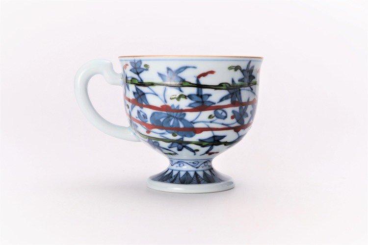亮秀窯 錦鳳凰唐草 コーヒー碗皿 画像サブ3