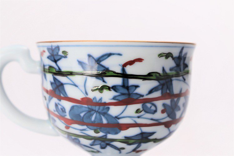 亮秀窯 錦鳳凰唐草 コーヒー碗皿 画像サブ5
