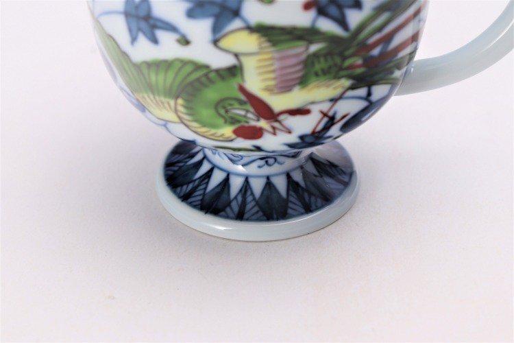 亮秀窯 錦鳳凰唐草 コーヒー碗皿 画像サブ6