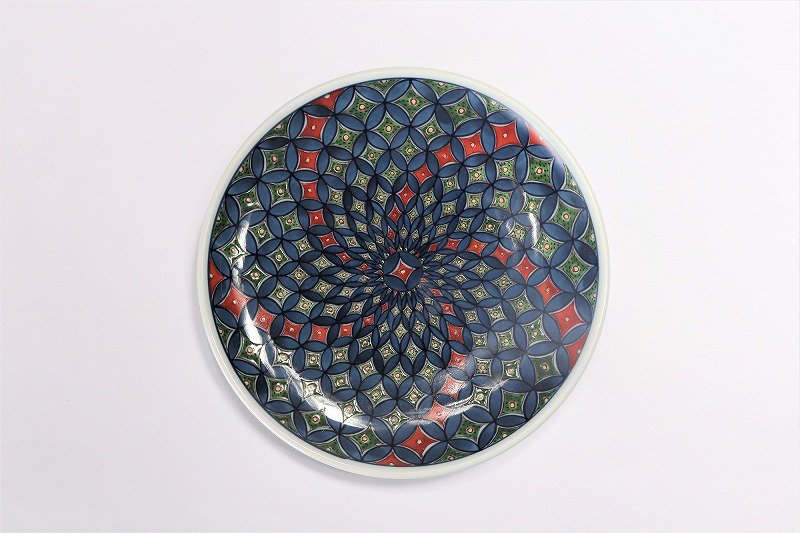 亮秀窯 古伊万里七宝 底平碗皿 画像サブ5