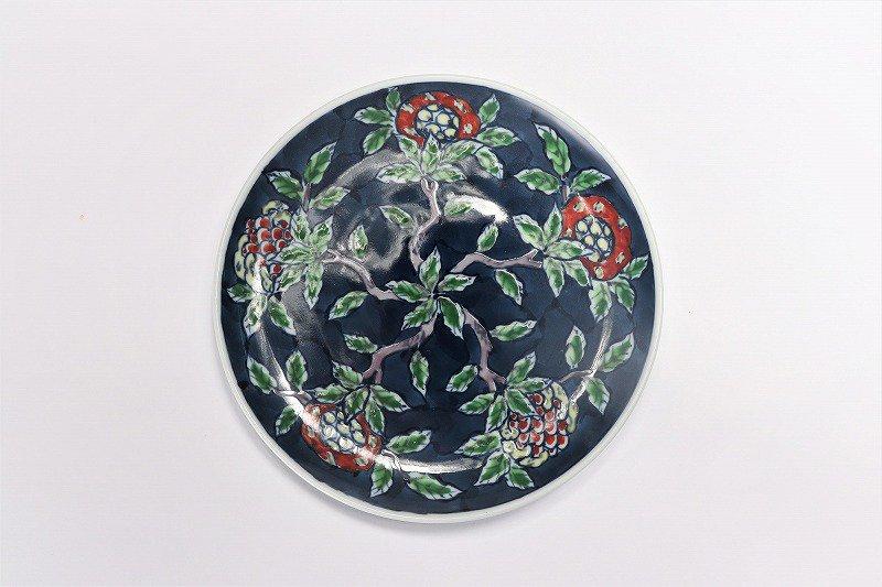亮秀窯 ざくろ絵 底平碗皿 画像サブ6