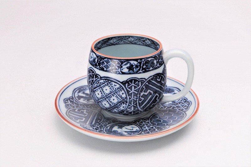 亮秀窯 染付祥瑞丸紋 丸型碗皿 画像メイン