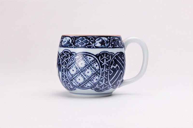 亮秀窯 染付祥瑞丸紋 丸型碗皿 画像サブ2