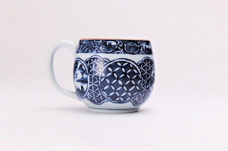 亮秀窯 染付祥瑞丸紋 丸型碗皿 画像サブ3