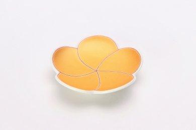 ☆幸楽窯 錦金彩梅形小皿