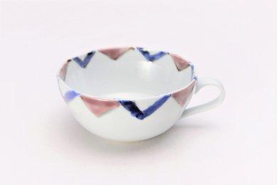 【入荷待ち】徳七窯 菱紋(紫) スープ碗