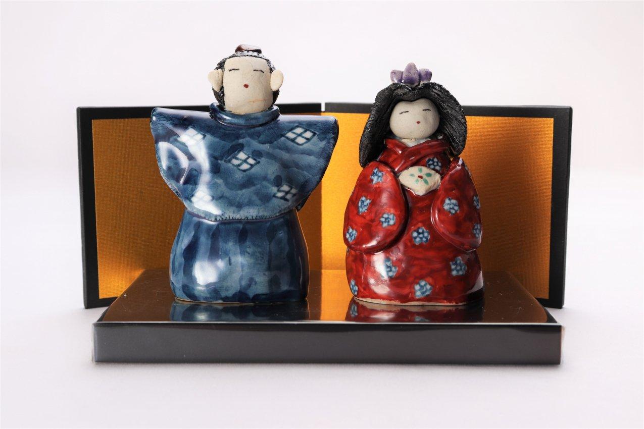 芳翠窯 ひな人形(小)(屏風・台付)
