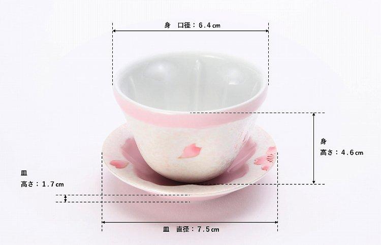 田清窯 薄ピンク釉虹彩桜 茶器セット(プレート付)  画像サブ16