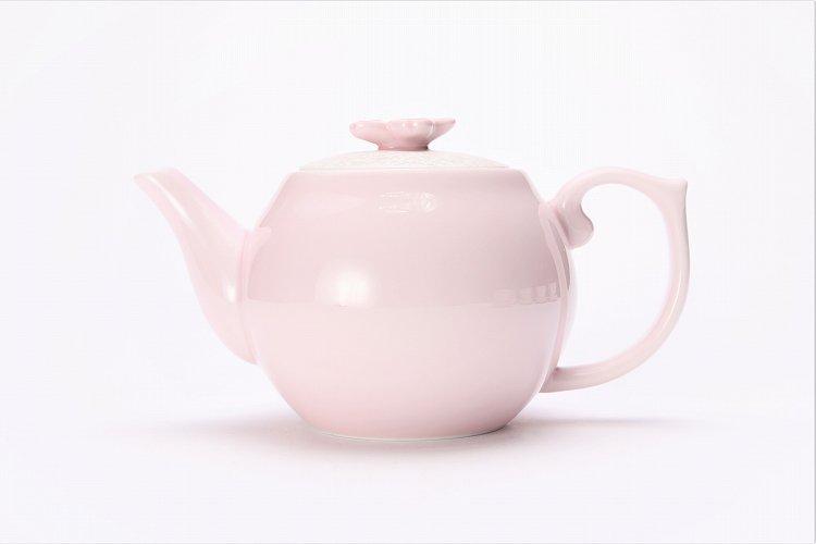 田清窯 薄ピンク釉虹彩桜 茶器セット(プレート付)  画像サブ18