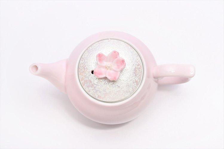 田清窯 薄ピンク釉虹彩桜 茶器セット(プレート付)  画像サブ19