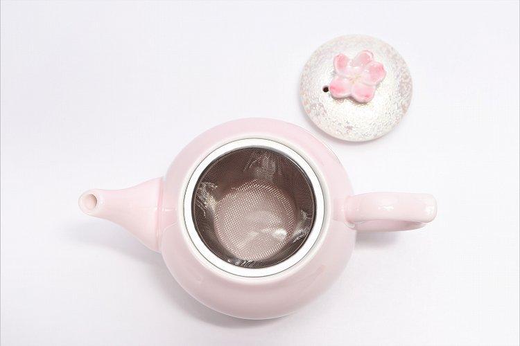 田清窯 薄ピンク釉虹彩桜 茶器セット(プレート付)  画像サブ20