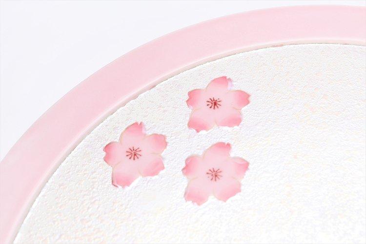 田清窯 薄ピンク釉虹彩桜 茶器セット(プレート付)  画像サブ27