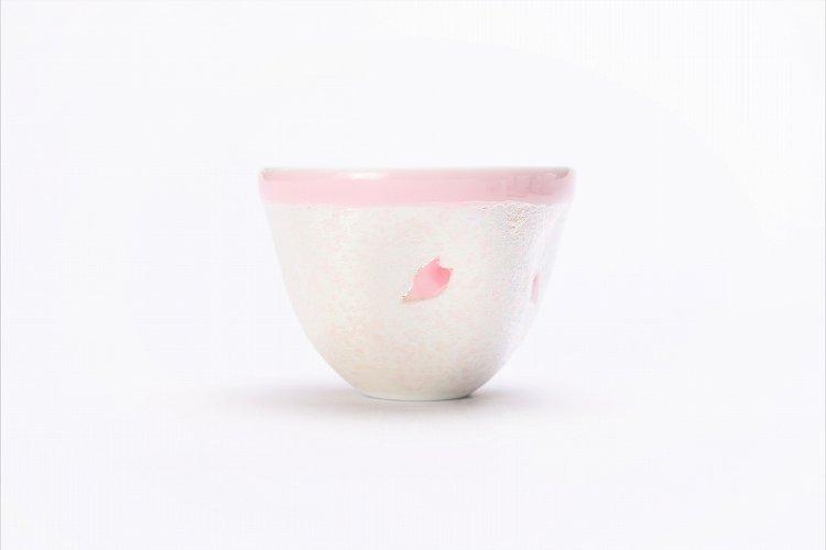 田清窯 薄ピンク釉虹彩桜 茶器セット(プレート付)  画像サブ4