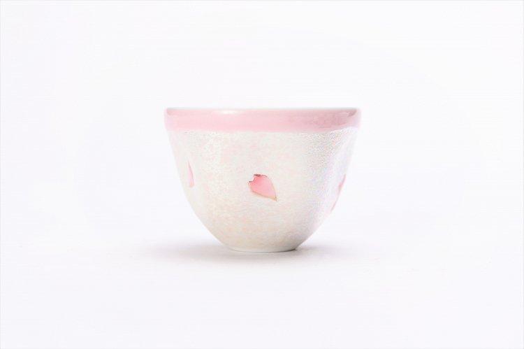 田清窯 薄ピンク釉虹彩桜 茶器セット(プレート付)  画像サブ5