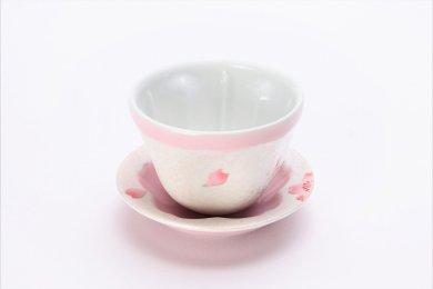 田清窯 薄ピンク釉虹彩桜 仙茶(小)