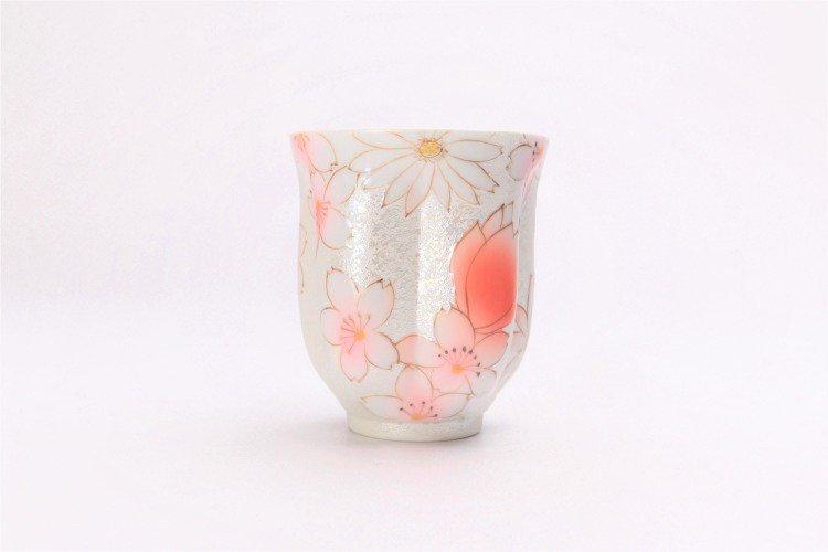 ☆田清窯 チェリーブラッサム(赤) 桜湯呑 画像サブ1