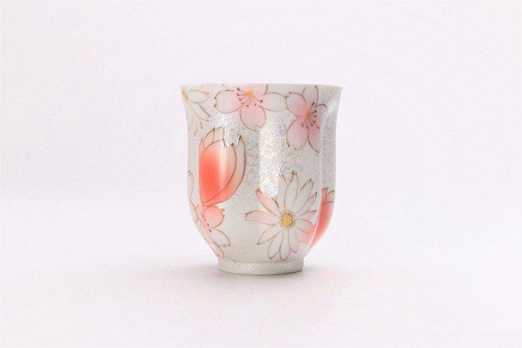 ☆田清窯 チェリーブラッサム(赤) 桜湯呑 画像サブ2