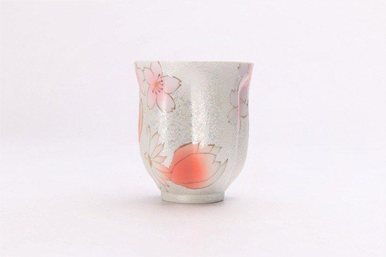 ☆田清窯 チェリーブラッサム(赤) 桜湯呑 画像サブ3