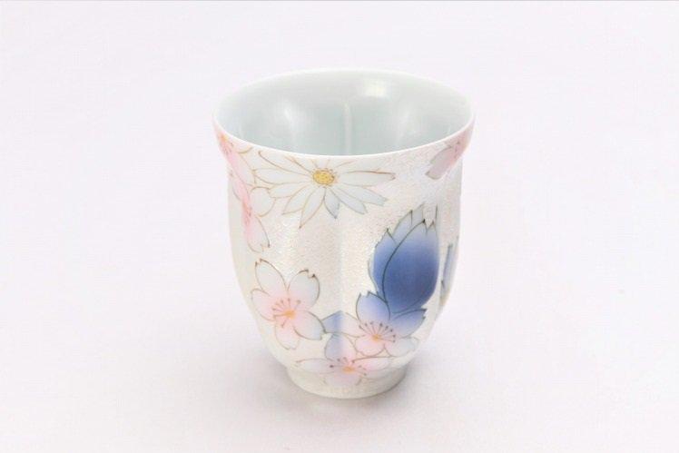 ☆田清窯 チェリーブラッサム ペア桜湯呑 画像サブ1