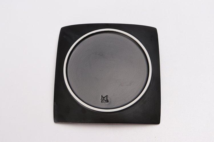 金善窯 正角菓子皿(小) いぶし銀散 画像サブ4