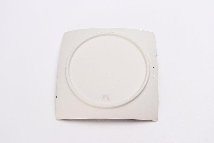 金善窯 正角菓子皿(小) ミスト黒飛ばし銀刷毛 画像サブ4