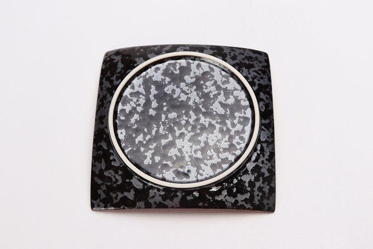 金善窯 正角菓子皿(小) ウロコ金 画像サブ4