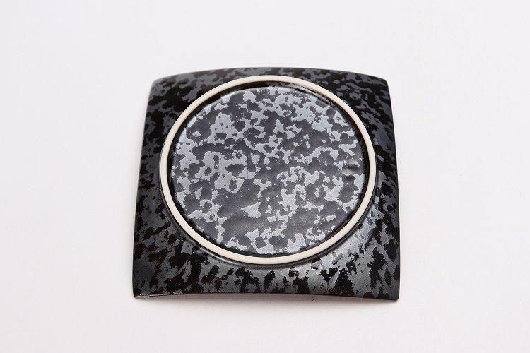 金善窯 正角菓子皿(小) ウロコ銀 画像サブ4