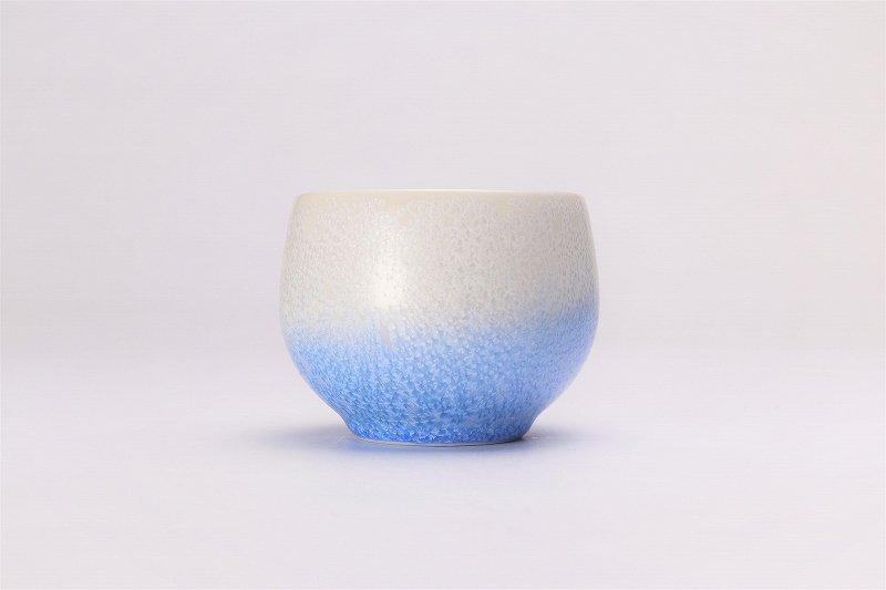 真右ェ門窯 手造り 藍染ロックカップ(丸) 木箱付 画像サブ1