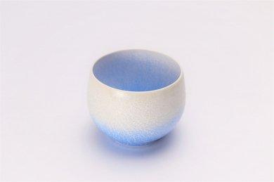 真右ェ門窯 手造り 藍染ロックカップ(丸) 木箱付