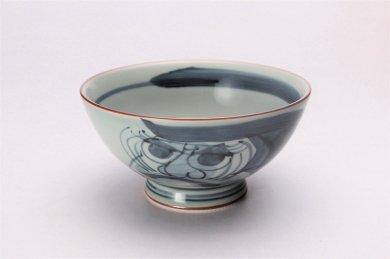 松幸陶芸 ダルマ(呉須) 4.5寸茶付