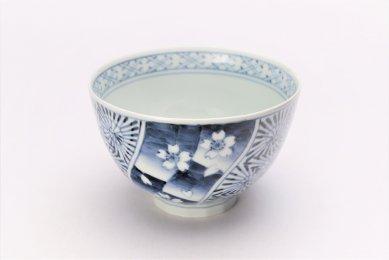 そうた窯 染付桜祥瑞 麺鉢(小)