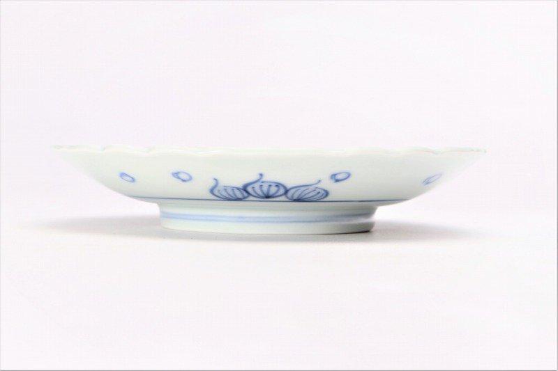 伯父山窯 魚紋桔梗渕6寸皿 画像サブ1