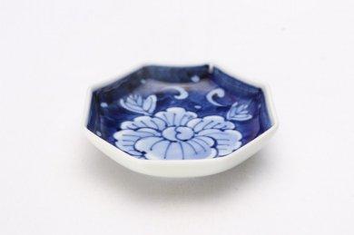 伯父山窯 濃牡丹カルタ型小皿