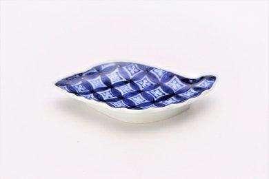 伯父山窯 七宝地紋貝型手塩皿