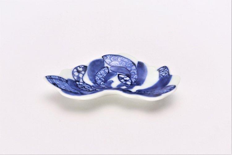 伯父山窯 濃地紋菊花型手塩皿 画像メイン