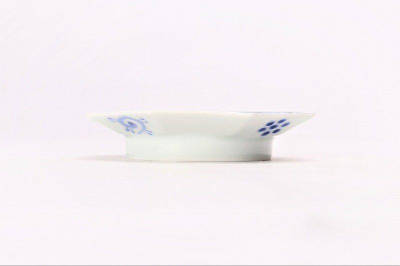 伯父山窯 蛸唐草八角手塩皿 画像サブ1
