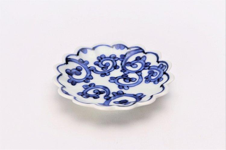 【オリジナル】蛸唐草菊型手塩皿 画像メイン