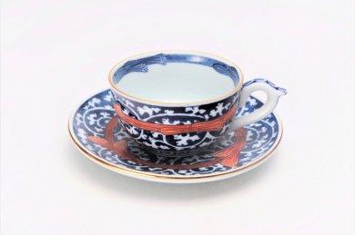 亮秀窯 ひも入染付唐草 紅茶碗