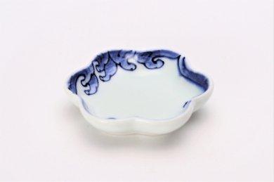 【オリジナル】波絵 菊型小皿