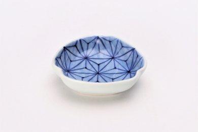 【オリジナル】麻の葉濃 三角隅入小皿