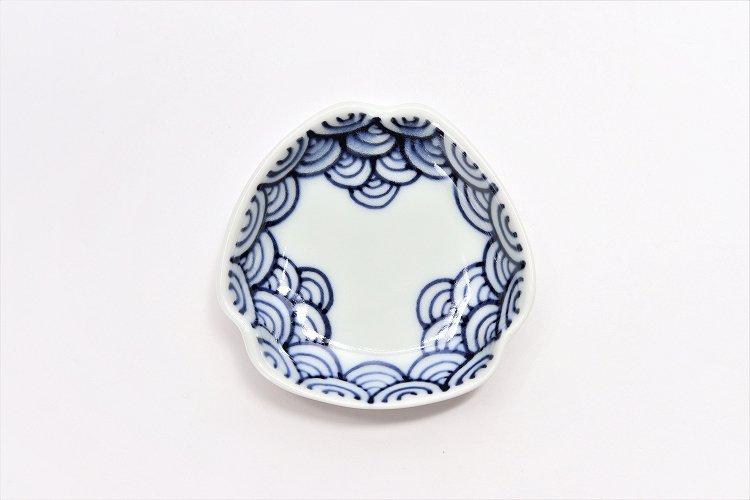 〇【オリジナル】渕青海波 三角隅入小皿 画像サブ2