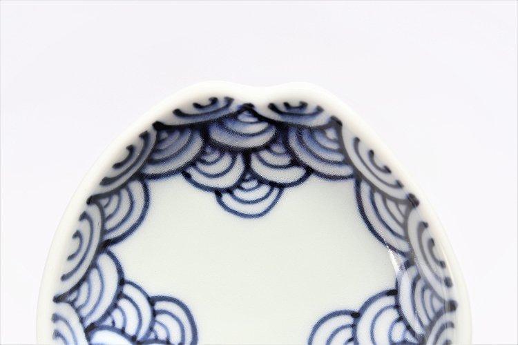 〇【オリジナル】渕青海波 三角隅入小皿 画像サブ3