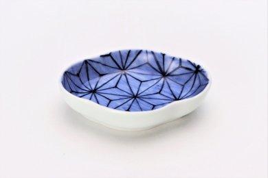 【オリジナル】麻の葉濃 木甲小皿