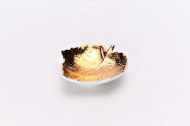〇【オリジナル】金彩 葉型小皿