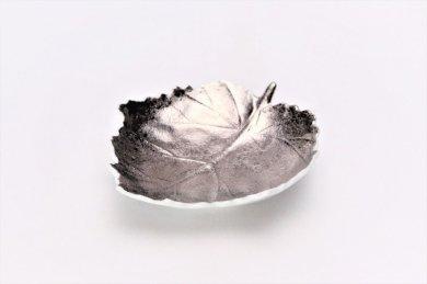〇【オリジナル】プラチナ 葉型皿