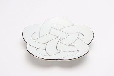 田清窯 太白プラチナ線梅むすび銘々皿