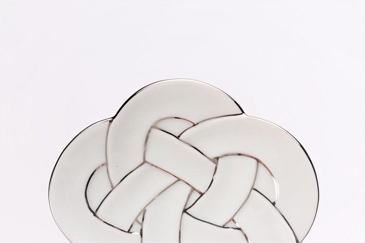 ☆田清窯 太白プラチナ線梅むすび小皿 画像サブ3