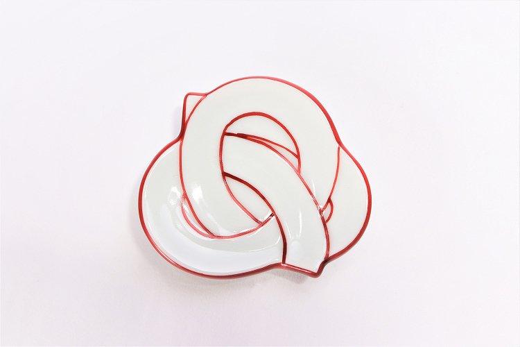 ☆田清窯 太白赤線むすび箸置 画像サブ2