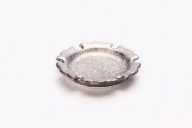 陶悦窯 黒柚子銀塗り 雪輪豆箸置き