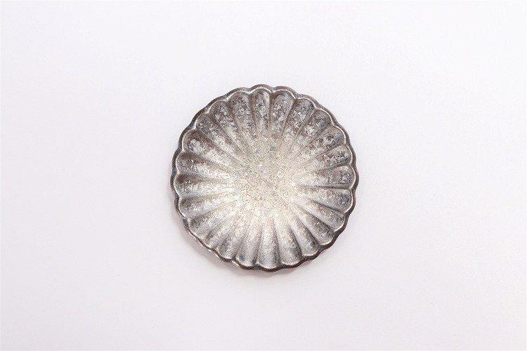 陶悦窯 黒柚子銀塗り 菊豆箸置き 画像サブ2